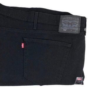 Levi's 541 Athletic Taper Black Denim Jeans 62x27